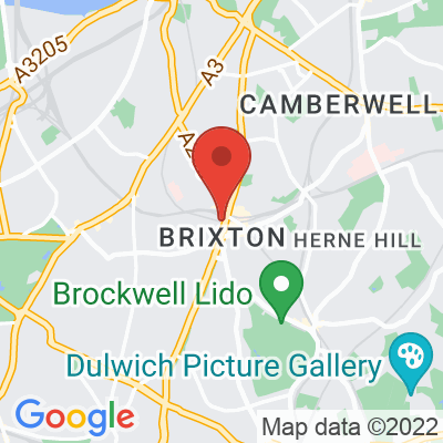 Map showing Brixton Blend