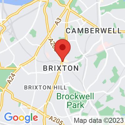 Map showing Sendero Specialty Coffee - Brixton