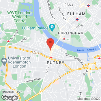 Map of wilko Putney at 9 Putney Exchange, London,  SW15 1TW