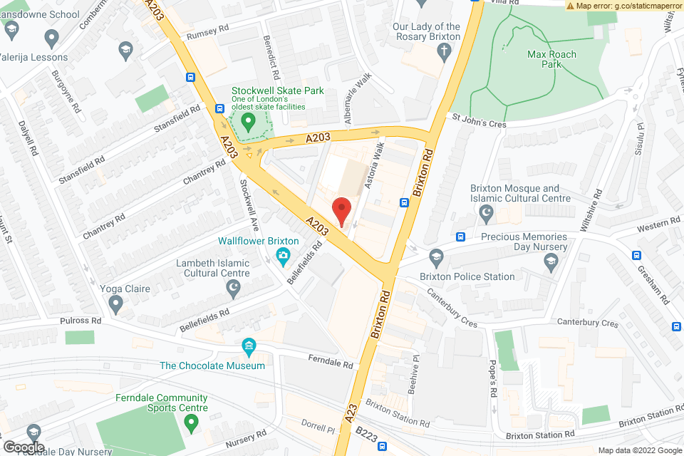 211 Stockwell Rd, London, SW9 9SL map