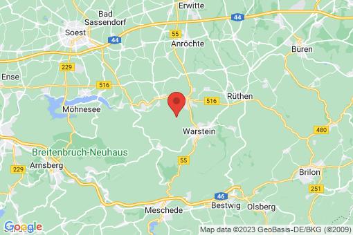 Karte Warstein