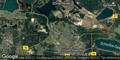 Google Map of Elsterheide