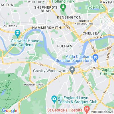 Vicarage Gardens, Fulham Location