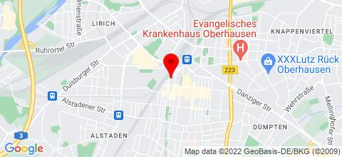 Google Map für Appartements Leutl in Duisburg, Moers und Oberhausen