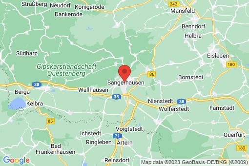 Karte Sangerhausen