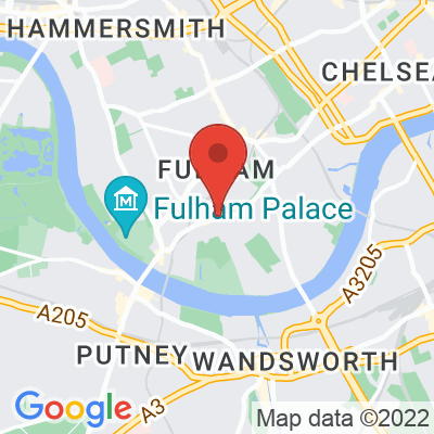 Map showing Hally's London