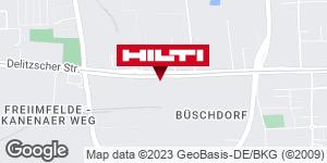 Wegbeschreibung zu Hilti Store Halle