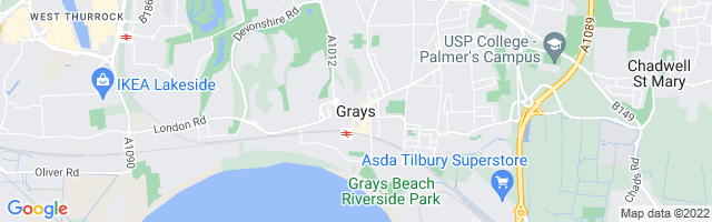 Map Of Grays Thurrock