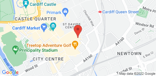 Directions to Café Rouge - Cardiff St Davids II