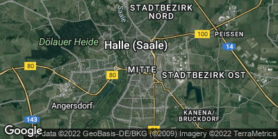 Google Map of Halle