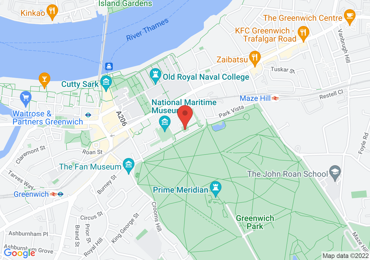 The location of Queen's House Greenwich