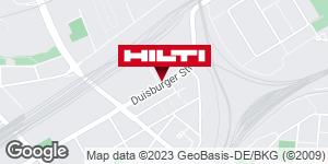 Wegbeschreibung zu Hilti Store Oberhausen