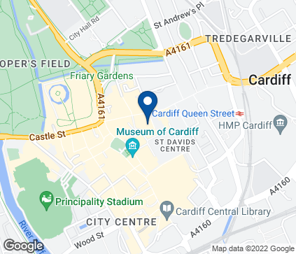 Map of 36 Queen Street in Cardiff