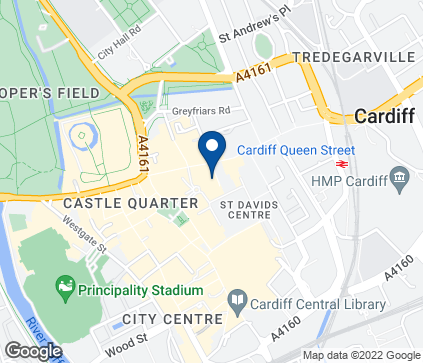 Map of Cyncoed Medical Centre in Pontprennau
