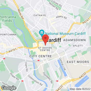 Map of Burger King at 78 Queens Street (Nr Virgin Mega), Cardiff,  CF10 2GR