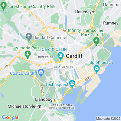 Cardiff Castle & Bute Park Location