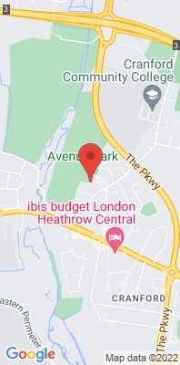 Map showing the location of the Hounslow Cranford monitoring site