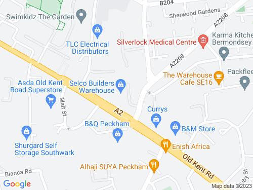 Map of Lovegrove Street