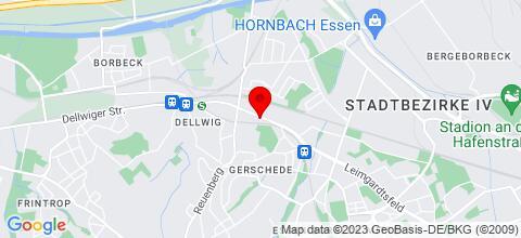 Google Map für Ferienwohnungen Kurepkat Essen