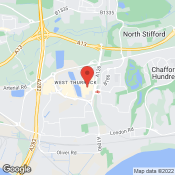 Map of Foot Locker Grays, Essex at Intu Lakeside Centre U212, Grays, Essex,  RM20 2ZQ