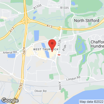 Map of Foot Locker Grays, Essex at West Thurrock Way, Grays, Essex,  RM20 2ZQ