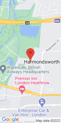 Map showing the location of the Hillingdon Harmondsworth Osiris monitoring site