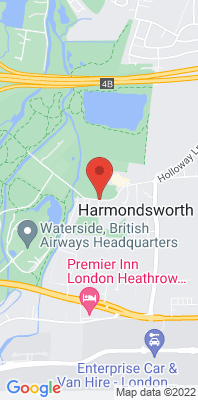Map showing the location of the Hillingdon Harmondsworth monitoring site