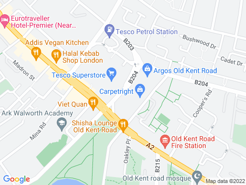 Map of Humphrey Street