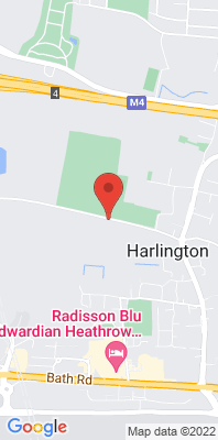 Map showing the location of the London Harlington monitoring site