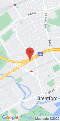 Map showing the location of the Brentford Roadside [Closed] monitoring site