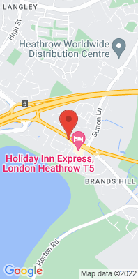 Map showing the location of the Slough Brands Hill London Road monitoring site