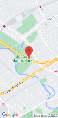 Map showing the location of the Hounslow Boston Manor Park [Closed] monitoring site