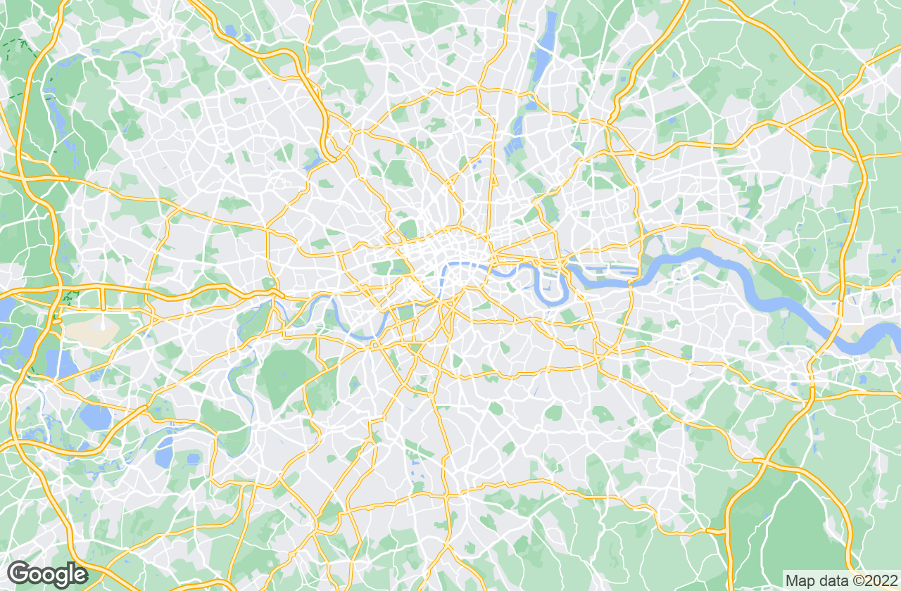 Google Map of لندن