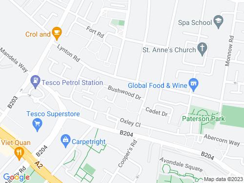 Map of Bushwood Drive