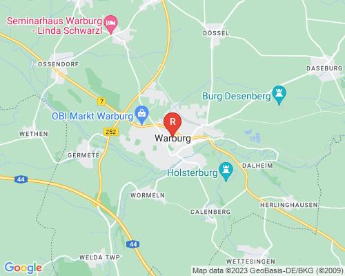 Google Karte von Rohrreinigung Warburg