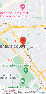 Map showing the location of the RBKC Earls Court Road monitoring site