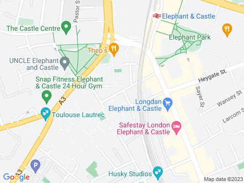 Map of Hampton Street