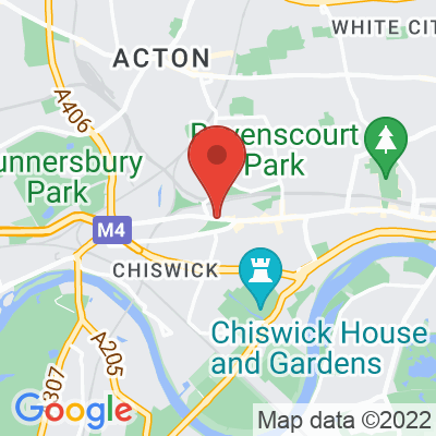 Map showing Amar Cafe (Chiswick)