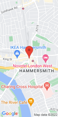 Map showing the location of the H&F Hammersmith Town Centre monitoring site