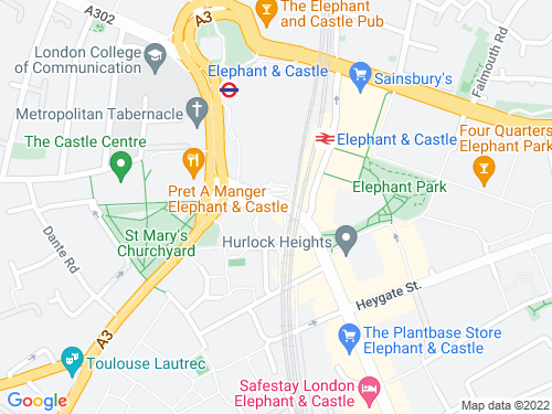 Map of Walworth Road