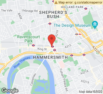 Map of Turners at 3 Beadon Road, Hammersmith, London W6 0EA