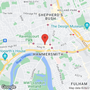 Map of wilko Hammersmith at Units 4-7 Kings Mall, London,  W6 0PZ