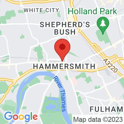 Map showing Alma Café - Hammersmith