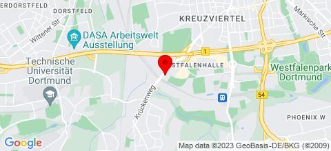 Google Map für Ferienwohnungen Kurepkat Dortmund