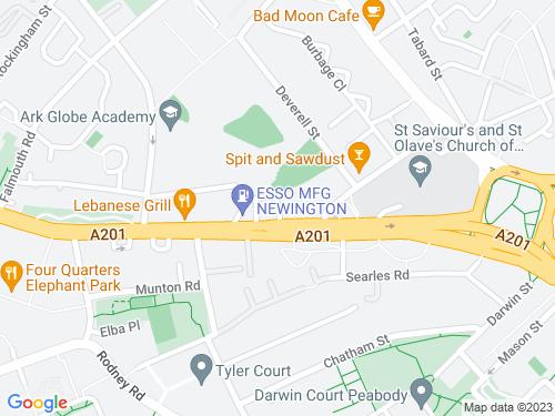 Map of Theobald Street