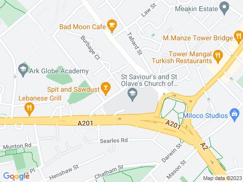 Map of Bartholomew Street