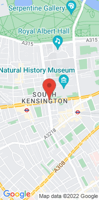 Map showing the location of the RBKC Cromwell Rd monitoring site