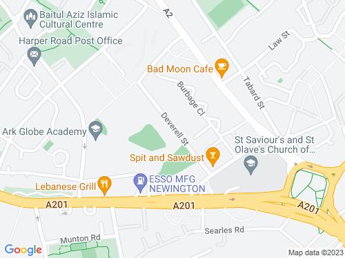 Map of Deverell Street