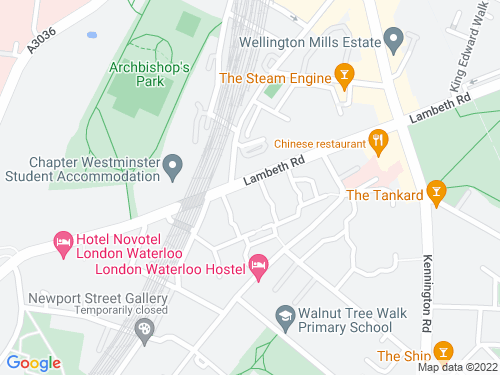 Map of Lambeth Road