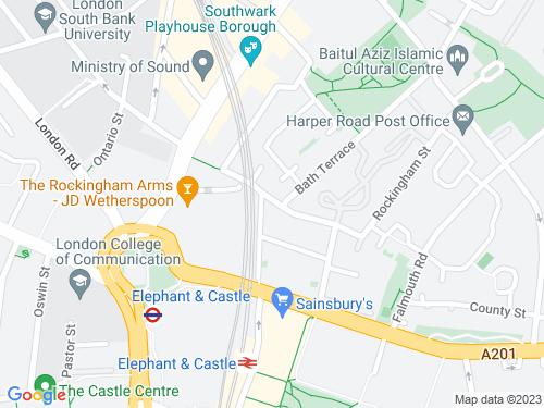Map of Rockingham Street
